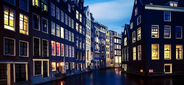 Amsterdam di notte, paesi bassi