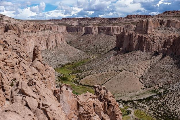 Viste del canyon anaconda nel parco nazionale boliviano