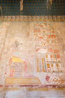 Antichi geroglifici sulla parete