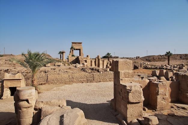 Antico tempio di karnak a luxor in egitto