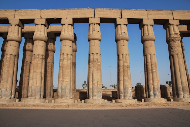 Tempio antico di luxor nella città di luxor, egitto