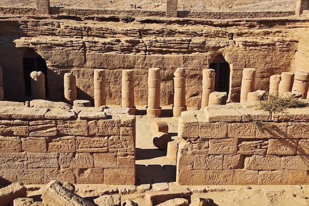 Antica tomba del faraone a el kurru, sudan
