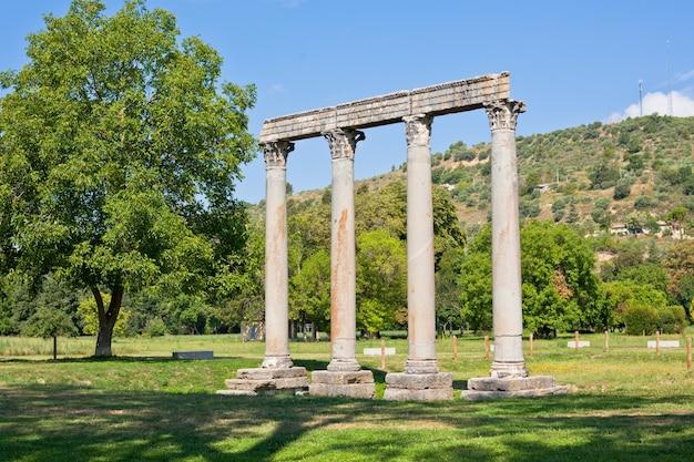 Antico tempio romano di apollo a riez, alpes de haute provence, francia