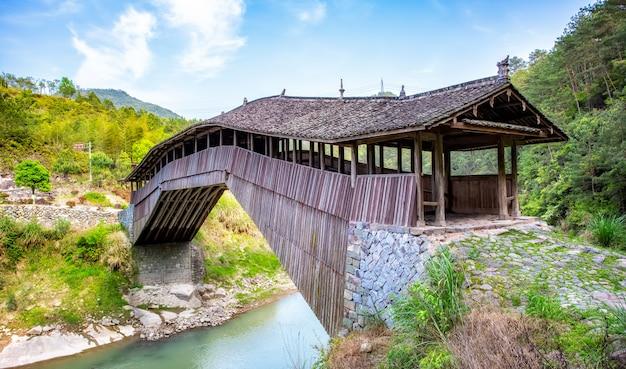 Taishun lounge bridge antico nella provincia di zhejiang, cina