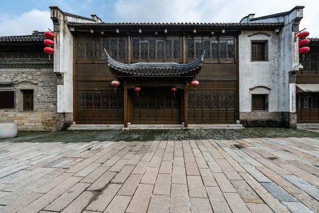 Antiche costruzioni della città e strade a nanchino, cina