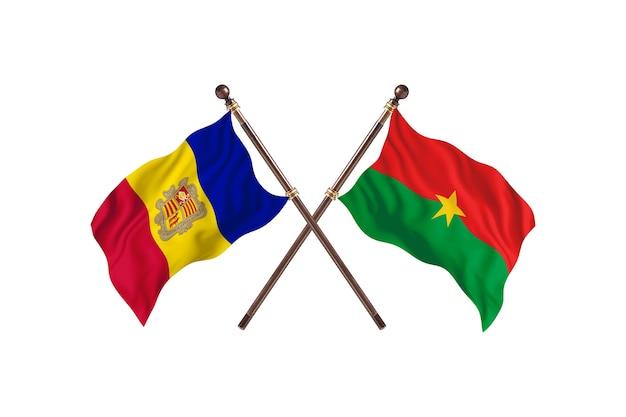Andorra contro burkina faso due bandiere di paesi background