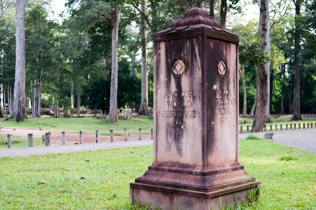 Patrimonio mondiale di angkor in cambogia