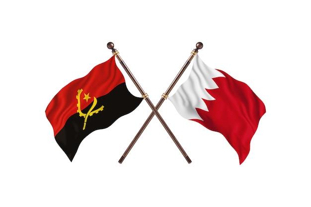 Angola contro bahrain due bandiere di paesi background