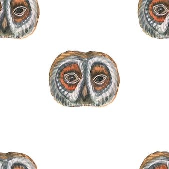 Animali cartone animato carino museruola stile scandinavo. illustrazione disegnata a mano dei bambini. insieme dell'acquerello. modello senza soluzione di continuità. stampa realismo tessile