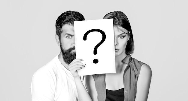 Anonimo, domanda uomo e donna, incognita. problemi e soluzioni