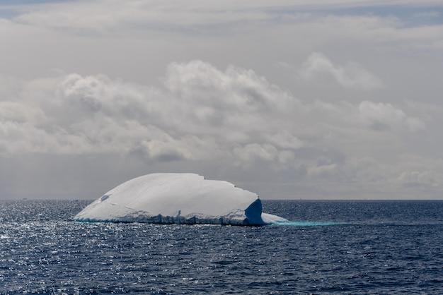 Vista sul mare antartica con iceberg