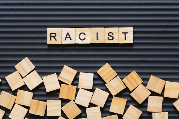 Parola anti razzista con testo worden