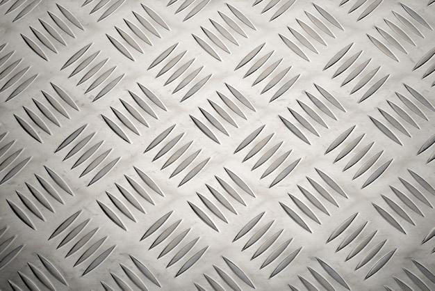 Piastra metallica in alluminio antiscivolo con trama o sfondo a rombi