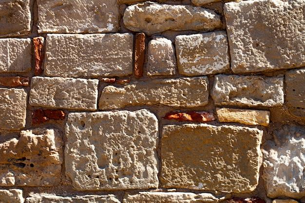 Priorità bassa del grunge di struttura del muro di mattoni antichi.