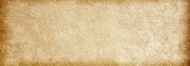 Sfondo di banner ruvido marrone antiquato antico, texture di carta vintage