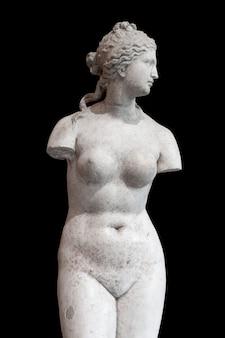 Sculture antiche isolano la scultura classica in marmo dell'antica grecia su uno sfondo bianco arte del corpo ...