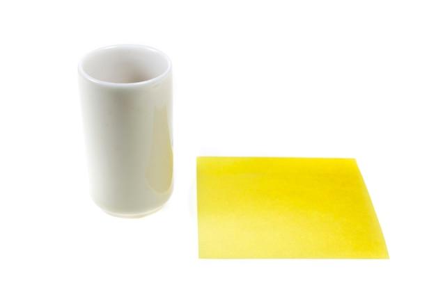 Tazze da tè antiche, nota gialla del bastone.