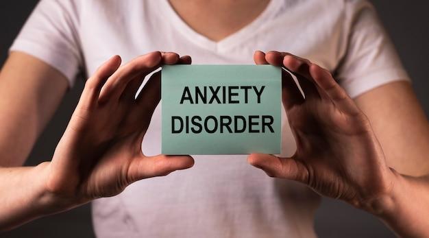 Concetto di diagnosi del disturbo d'ansia. parole sulla salute mentale.