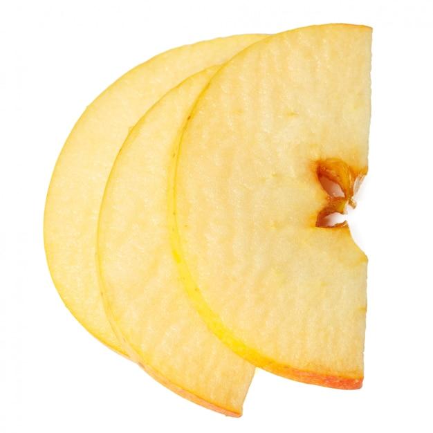 Fette di mela isolate
