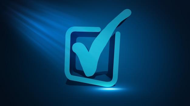 Icona approvata. illustrazione 3d del segno accettato o confermato