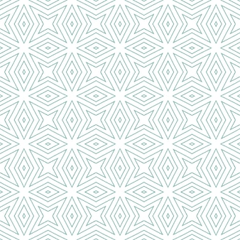 Motivo arabesco disegnato a mano. fondo simmetrico del caleidoscopio del turchese. stampa emozionale pronta per il tessuto, tessuto per costumi da bagno, carta da parati, involucro. disegno disegnato a mano arabesco orientale.