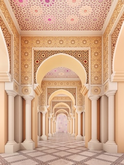 Dettaglio arabo in colonne e archi