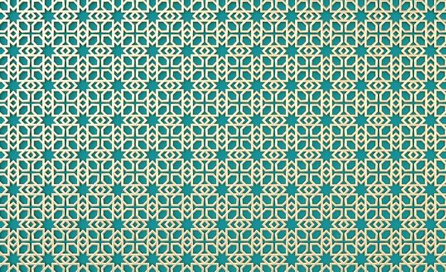 Arabo dorato motivo geometrico vacanza musulmana eid al adha ornamento sfondo ramadan arabesque