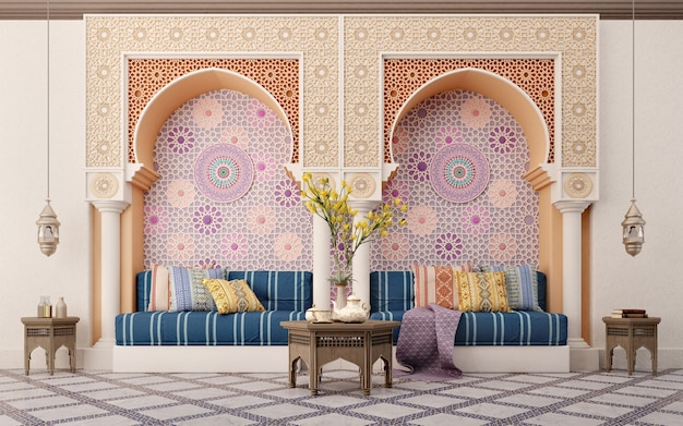 Soggiorno in stile arabo