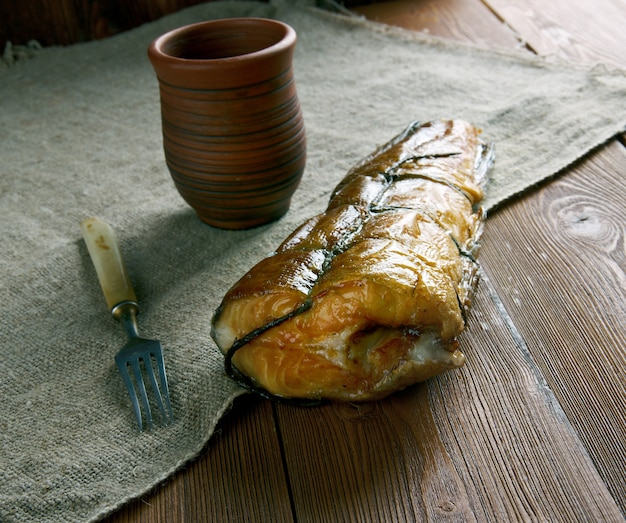 Arbroath smokie tipo di eglefino affumicato di arbroath ad angus, in scozia.