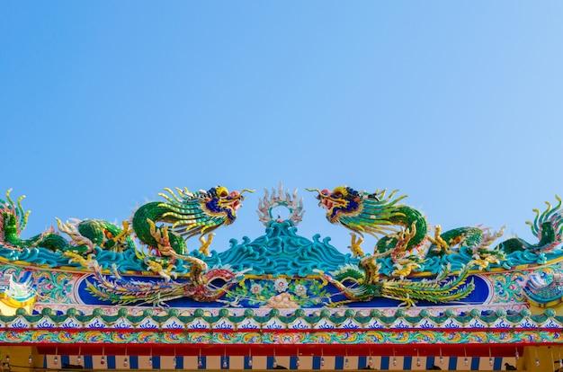 Ingresso ad arco del santuario cinese