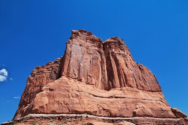 Parco nazionale di arches valley nello utah degli stati uniti