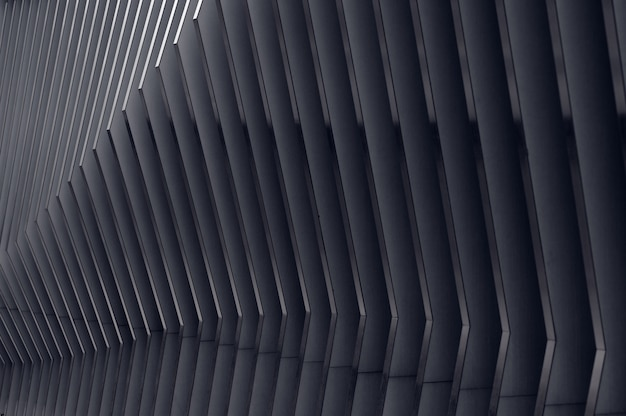 Sfondo architettonico moderna composizione ad arco in metallo in prospettiva semicircolare modella la luce alla fine