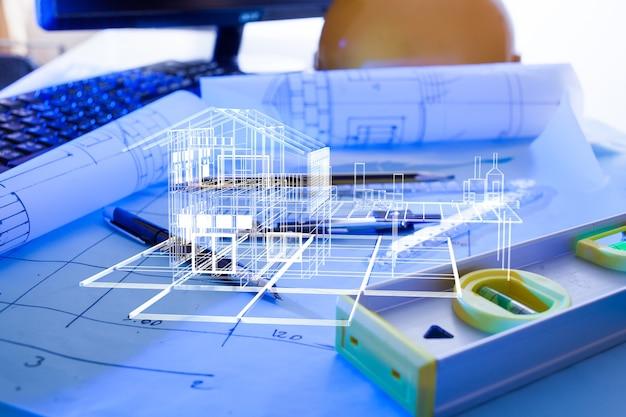 Progettazione architettonica e disegni di schemi di progetto