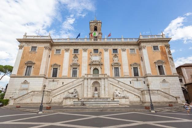 Dettagli architettonici in piazza del campidoglio roma italia europa