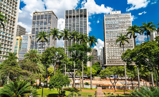 Architettura del centro di san paolo in brasile
