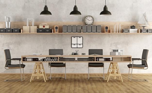 Sala del consiglio di architettura o ingegneria in stile minimalista