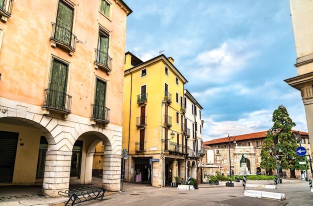 Architettura del centro storico di vicenza. patrimonio mondiale dell'unesco in italia