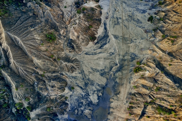 Vista areale colline sabbiose laghi fiumi terreno