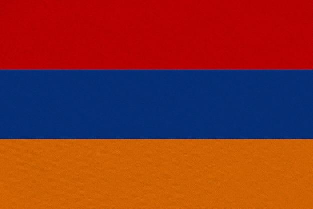 Bandiera del tessuto armenia