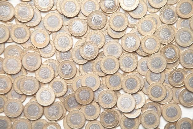 Monete armene. finanza. vista dall'alto