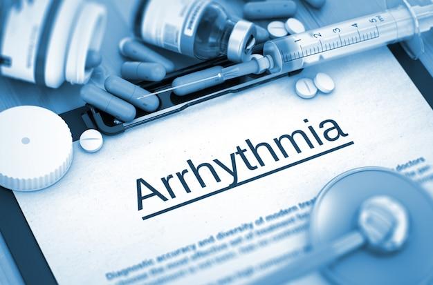 Diagnosi dell'aritmia con composizione dei medicinali