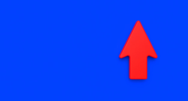 Arrow concetto di business e successo. realizzazione illustrazione astratta. rendering 3d