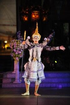 Arte cultura thailandia danza in khon mascherato benjakai nella letteratura cultura ramayanathailand