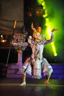 Arte cultura thailandia ballare in khon mascherato benjakai nella letteratura cultura ramayanathailand cultura tradizionale khonthailand thailandia