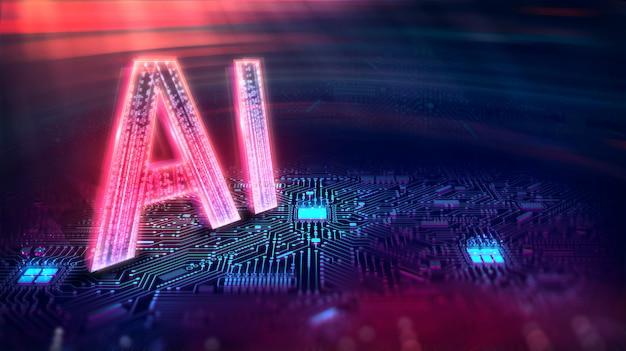 Intelligenza artificiale. (ai), machine learning, tecnologia e concetto di ingegneria.