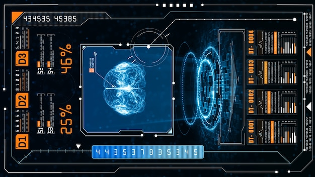 Concetto di intelligenza artificiale cervello su un circuito stampato