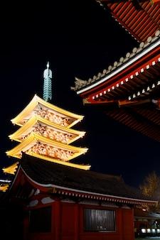 Asakusa sensoji temple nella notte