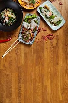 Spazio asiatico della copia dell'alimento