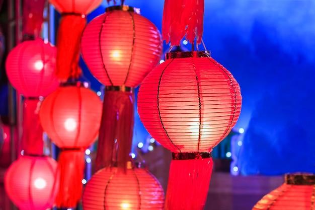 Festival delle lanterne asiatiche, chiangmai thailandia.