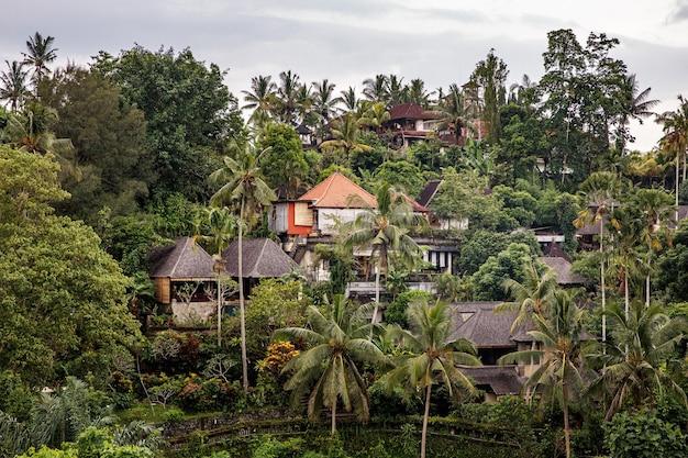 Villaggio asiatico nella giungla.